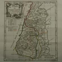 1762 - Vaugondy - Holy Land Judea