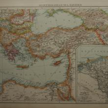 1896 - Times Atlas - Mediteranean Sea East